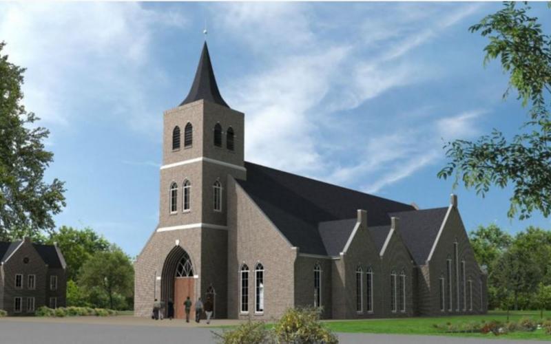 Nieuw kerkgebouw met 750 zitplaatsen voor Gereformeerde Gemeente in Nederland in Leerdam.
