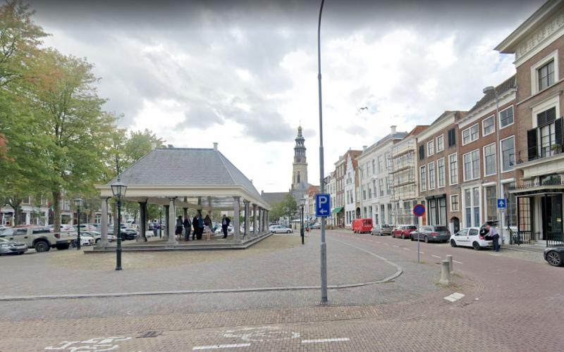 De Nieuwe Kerk in Middelburg met de toren Lange Jan.