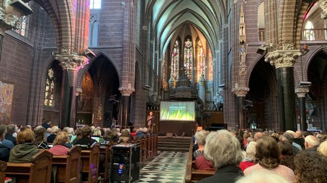 Bisschop Gerard de Korte opent het congres Groen Geloven in het Dominicanenklooster in Zwolle. Foto: copyright Helderblauw, Barneveld