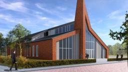 Het nieuwe kerkgebouw van de Gereformeerde Gemeente Utrecht