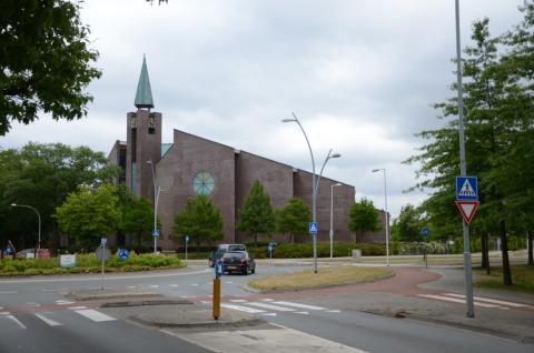 Het kerkgebouw van de Gereformeerde Gemeente in Nederland in Barneveld