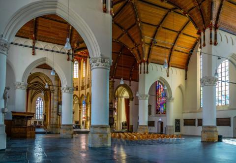 Het interieur van de Grote Kerk in Den Haag | Foto: Trabantos/Shutterstock