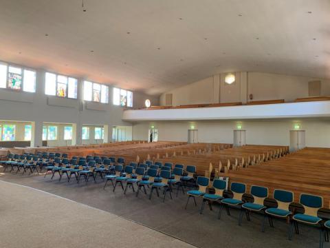 Interieur van de Bethelkerk in Barneveld voor de verbouwing in 2021 | Copyright Kerkmagazine