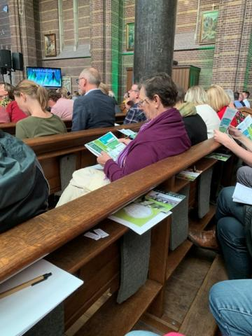 Keuzes maken voor duurzaam handelen tijdens het congres Groen Geloven in het Dominicanenklooster in Zwolle. Foto: copyright Helderblauw, Barneveld