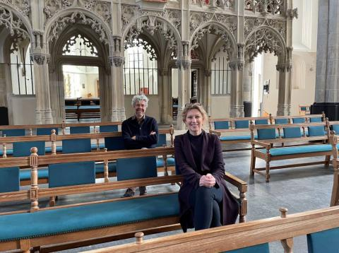 Susan Lammers, directeur RCE en Frank Strolenberg, programmaleider Toekomst Religieus Erfgoed | Foto: copyright Kerkmagazine