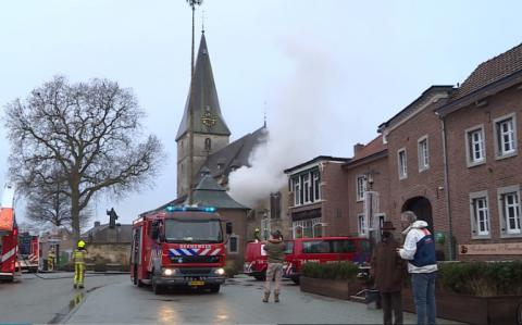 Brand in de Sint-Brigidakerk in Noorbeek