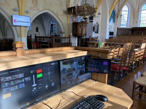Bedieningspaneel met ESD software van Schaapsound